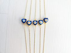 Heart evil eye bracelet   turkish eye jewelry greek by Handemadeit, $12.00