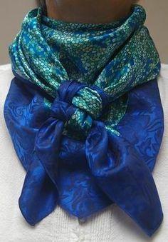 Lichen Blue w/Royal Blue Jacquard Combo Scarf #9