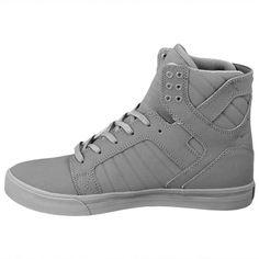 Supra Skytop Skate Shoes Grey Gunny TUF