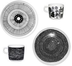 I love my all white dishes, but this line from Marimekko is pretty fun!