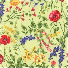 Texas Wildflowers V by Sentimental Studios for Moda  Spring Green   32642  12