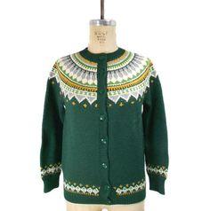 1960s Nonia Hand Knit Cardigan Sweater / by SemiPreciousGarnetts, $46.00 #vintage #etsy #1960s #sweater