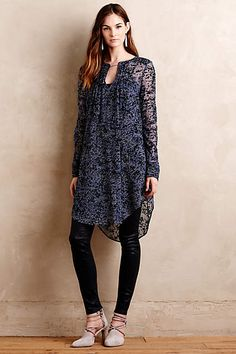 Silk Burnout Tunic - anthropologie.com
