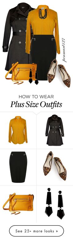 """In the Trenches #Plussize"" by penny-martin on Polyvore featuring City Chic, Boden, Rebecca Minkoff and Emporio Armani"