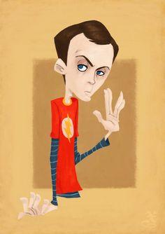The Big Bang Theory Fan Art Film Serie, Geek Art, Big Bang Theory, Jim Parsons, Ghost In The Machine, Nerdy, Big Ben, Disney Characters, Fictional Characters