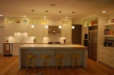 like the cabinets & lighting.  via Michelle Halford.