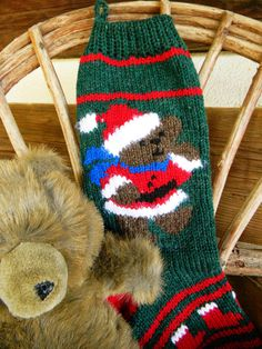 Santa Bear with 3 scarf color choices