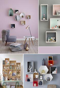 Afbeeldingsresultaat voor kleine kastjes aan de muur