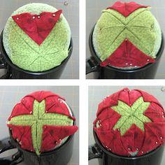 Homemade Christmas Ornaments: Folded Fabric Stars