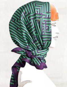 Hermès - Carré Parcours d'H by Dimitri Rybaltchenko