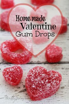 This Homemade Valentine Gum Drops Recipe is a fun way to make your own Valentine candy in your kitchen. It's Gluten-Free too!