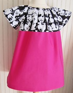 Fashion Girl Dress Short Sleeve in Bright Pink  by thetrendytot, $42.00