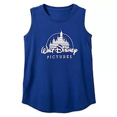 "A relaxed tank featuring the classic Walt Disney Pictures logo you can wear for The melody of ""When You Wish Upon A Star"" is playing in your head now, isn't it? 39 Disney Shirts That'll Probably Become Your WFH Wardrobe Disney Shirts, Disney Outfits, Signature Fonts, Walt Disney Pictures, Picture Logo, T Shirts For Women, How To Wear, Tops, Font Logo"