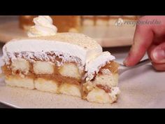 Sütés nélküli almatorta - YouTube Tiramisu, Biscuits, Make It Yourself, Ethnic Recipes, Food, Youtube, Crack Crackers, Cookies, Essen