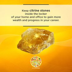 Citrine stones are always associated in welcoming prosperity and wealth. Feng Shui House, Puja Room, Vastu Shastra, Feng Shui Tips, Magic Words, Trendy Home, Krystal, Home Decor Bedroom, Home Interior Design