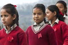 Students at the Sankhu-Palubari Community School - from The Importance of Educating Girls