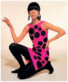 Peggy Moffitt in Pierre Cardin Dress, photographed by William Claxton, 1965