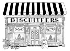 Biscuiteers. Cute illustration for an adorable company!