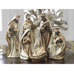 Winter's Lace nativity scene