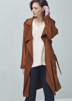 Flowy trench - Coats for Woman | MANGO Bosnia-Herzegovina