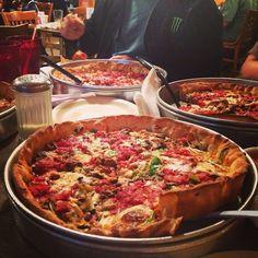 Deep dish feast.  #StarPizza #HoustonPizza