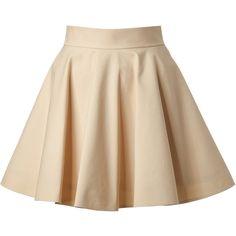VALENTINO R.E.D. Stretch Cotton Circle Skirt found on Polyvore