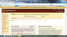 A site to find Bible verses and the entire Bible online and in many different translations.