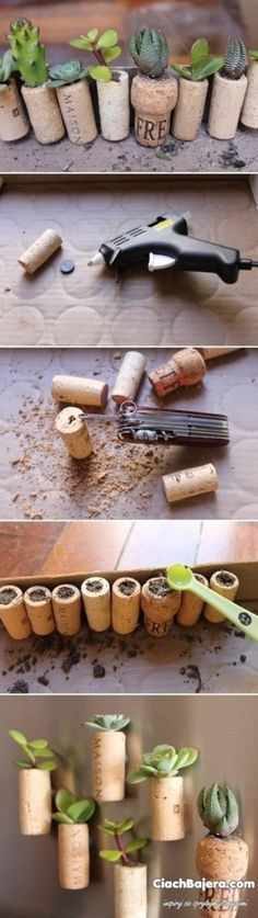 DIY Wine Corks Craft Projects