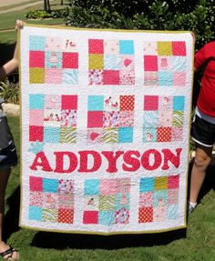 Addy's quilt- I primarily used the Children at Play prints, but added a few other.