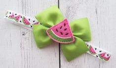 Two Sweet Watermelon First Birthday Onesie - girl birthday, watermelon birthday, watermelon pink Watermelon Decor, Sweet Watermelon, Watermelon Birthday, Pink First Birthday, First Birthday Outfits, Ribbon Bows, Ribbons, Felt Hair Bows, Craft Projects