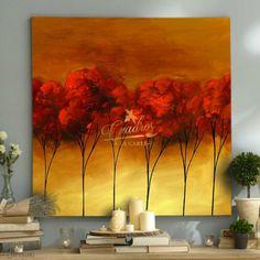 abstractos-arboles-de-oro-cuadros-decorativos-al-oleo Acrylic Art, Acrylic Paintings, Art Drawings Sketches, Modern Art, Doodles, Palette, Plants, Mercury, Frames