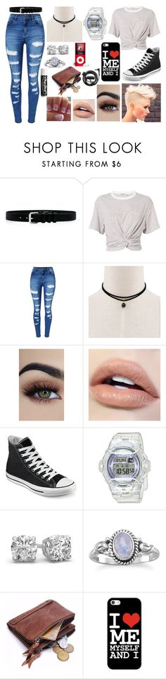 """""""FISH camp"""" by gee-mownay ❤ liked on Polyvore featuring IRO, T By Alexander Wang, WithChic, Converse, Baby-G, Casetify, Chapstick and Forever 21"""