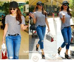 Jacqueline Fernandez Photographed At The Airport (With Tod's In Bollywood Outfits, Bollywood Fashion, Indian Celebrities, Bollywood Celebrities, Western Outfits, Western Wear, Beautiful Outfits, Cute Outfits, Diy Clothes And Shoes