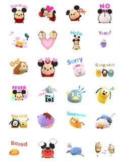 Disney TsumTsum Animated Stickers
