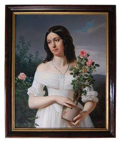 Austrian Biedermeier Painting by Eduard von Engerth