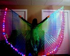 GAIA GODDESS Led Isis Wings - dance wings Custom Made Rainbow morph led's