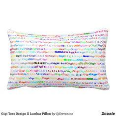Gigi Text Design II Lumbar Pillow