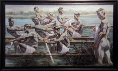[Bruce Sargeant (1898-1938)] Rowers n.d. Oil on canvas 48 x 84 inches Work by Mark Beard