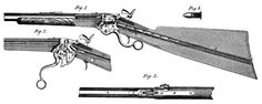 Spencer Model 1860 repeating carbine    Designed by Christopher Spencer and manufactured c.1860-69.  .56-56RF Spencer seven-round tubular magazine, lever action and manually cocked hammer, saddle ring and ladder sight.