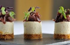 Goat Cheesecake With Red Onion Jam