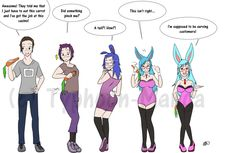 Bunny Girl by Typhoon-Manga on DeviantArt Tg Transformation Comics, Gender Bender Anime, Human Body Drawing, Tg Tf, Feminized Boys, Rule 63, Gender Swap, Feminist Art, Character Drawing