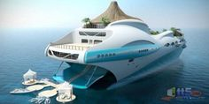 Full View of the Super Yatch