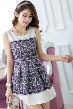 Floral Print Satin Mini Dress