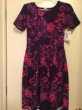 NWT LuLaRoe Amelia Dress Small Floral Print