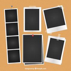 Variety of photography Free Vector Polaroid Frame Png, Polaroid Template, Frame Template, Templates, Fotografia Free, Vintage Photo Frames, Overlays Picsart, Instagram Frame, Free Frames