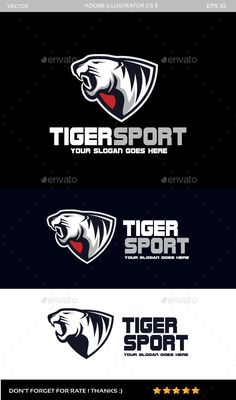 Tiger Sport  Logo Design Template Vector #logotype Download it here: http://graphicriver.net/item/tiger-sport-logo/11860782?s_rank=137?ref=nesto