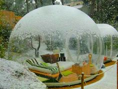 Snow-globe like rooms at Attrap Reves Hotel in France