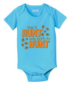 Love this Heather Turquoise 'Born to Hunt' Bodysuit - Infant by Country Casuals on #zulily! #zulilyfinds