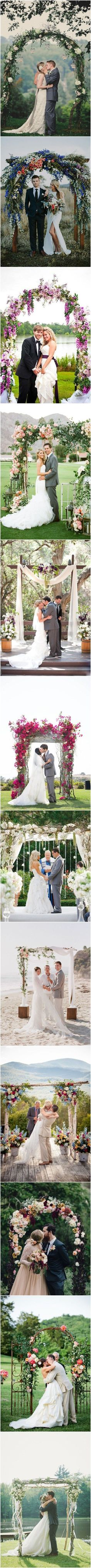Rustic Wedding Ideas - 26 Floral Wedding Arches Decorating Ideas http://www.deerpearlflowers.com/26-floral-wedding-arches-decorating-ideas/