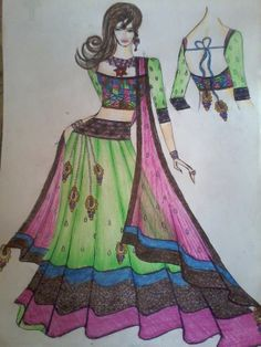 indian ethnic wear.....illustrated by me...